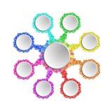 Ejemplo colorido del círculo infographic Fotografía de archivo