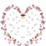 Ejemplo colorido del corazón de las estrellas en el fondo blanco foto de archivo libre de regalías