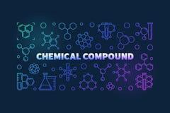 Ejemplo colorido del esquema del vector del compuesto químico ilustración del vector