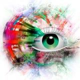 Ejemplo colorido del símbolo místico ilustración del vector