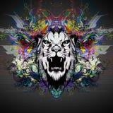 Ejemplo colorido del tigre Imagenes de archivo