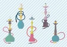 Ejemplo colorido del vector del sistema de los iconos de la cachimba Fotos de archivo libres de regalías