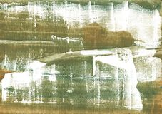 Ejemplo colorido verde de la acuarela del pantano Imagenes de archivo