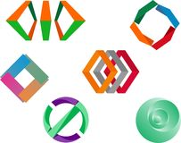 Ejemplo común del extracto del logotipo Imagenes de archivo