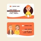 Ejemplo común del vector de las tarjetas de visita de los cursos de las seguridades del presentador estrella Noticias de última h libre illustration