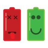 Ejemplo común del vector: Iconos de la batería Imagen de archivo