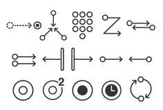 Ejemplo común del vector: Los iconos móviles del gesto del tacto fijaron 2 - ejemplo stock de ilustración