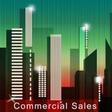 Ejemplo comercial de la venta 3d de Real Estate de los medios de las ventas stock de ilustración