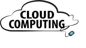 Ejemplo computacional del logotipo del texto de la palabra de la nube libre illustration