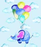 Ejemplo con el elefante ilustración del vector