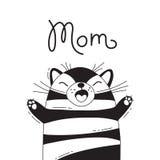 Ejemplo con el gato alegre que grita - mamá Para el diseño de avatares, de carteles y de tarjetas divertidos Animal lindo libre illustration