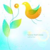 Ejemplo con el pájaro y la ramificación. eps10 Imagen de archivo libre de regalías
