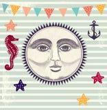 Ejemplo con el sol ilustración del vector
