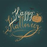 Ejemplo con feliz Halloween del texto Imágenes de archivo libres de regalías