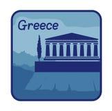 Ejemplo con la acrópolis de Atenas en Grecia Libre Illustration