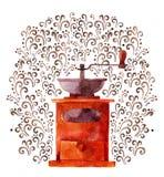 Ejemplo con la amoladora de café libre illustration