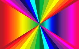 Ejemplo con los colores del arco iris fotos de archivo