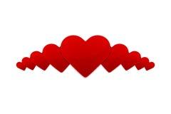 Ejemplo con un corazón rojo de la tarjeta del día de San Valentín Fotografía de archivo libre de regalías