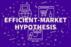 Ejemplo conceptual del negocio con el eficiente-mercado de las palabras libre illustration