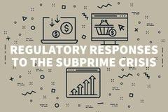Ejemplo conceptual del negocio con el respo regulador de las palabras stock de ilustración