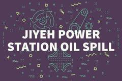 Ejemplo conceptual del negocio con el stat del poder del jiyeh de las palabras libre illustration