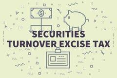 Ejemplo conceptual del negocio con el turno de las seguridades de las palabras ilustración del vector