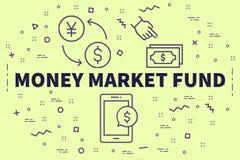 Ejemplo conceptual del negocio con la diversión del mercado de valores de las palabras libre illustration