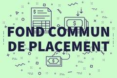 Ejemplo conceptual del negocio con las palabras commun encariñado de p libre illustration