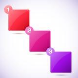 Ejemplo conceptual del vector de cubos coloridos Fotografía de archivo