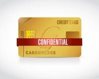 Ejemplo confidencial de la información de la tarjeta de crédito ilustración del vector