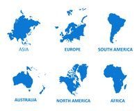 Ejemplo continente del vector del mapa en el fondo blanco ilustración del vector