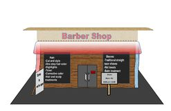 Ejemplo creativo de Barber Shop libre illustration
