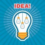 Ejemplo creativo de la idea - concepto del gráfico de vector - bombilla - ejemplo de las lámparas Fotografía de archivo libre de regalías