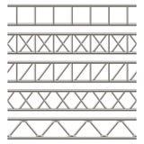 Ejemplo creativo de la viga de acero del braguero, tubos del cromo aislados en fondo transparente Metal horizontal c del diseño d stock de ilustración