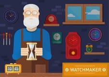 Ejemplo creativo de un relojero ilustración del vector