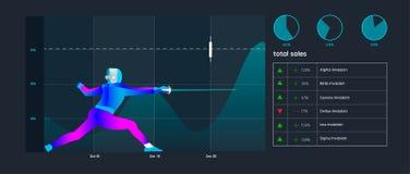 Ejemplo creativo del analytics de Business del analista financiero, concepto del estudio de mercados Golpe exacto en la blanco Fotografía de archivo
