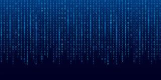 Ejemplo creativo del vector de la corriente del código binario Diseño del arte del fondo de la matriz del ordenador Dígitos en la ilustración del vector