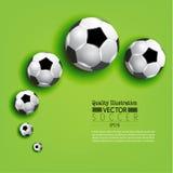 Ejemplo creativo del vector del deporte del fútbol del fútbol Imagenes de archivo