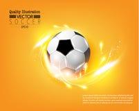 Ejemplo creativo del vector del deporte del fútbol del fútbol Imagen de archivo
