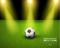 Ejemplo creativo del vector del deporte del fútbol del fútbol stock de ilustración