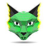 Ejemplo creativo del vector del gato del arte pop en polivinílico bajo ilustración del vector