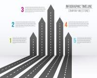 Ejemplo creativo del vector del mapa de caminos de la flecha 3D Negocio y viaje del diseño del arte infographic Concepto abstract Fotos de archivo