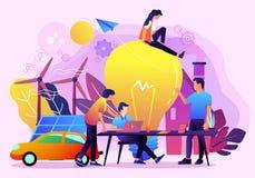 Ejemplo creativo del vector del teamowrok del negocio de la idea ilustración del vector