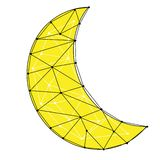 Ejemplo creciente de la luna Foto de archivo libre de regalías
