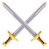 Ejemplo cruzado de las espadas ilustración del vector