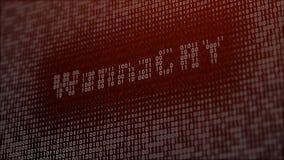 ejemplo 3d con el concepto de virus de ordenador Wannacry Fotografía de archivo libre de regalías
