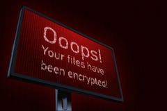 ejemplo 3d con el concepto de virus de ordenador Wannacry Fotos de archivo