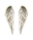 ejemplo 3d de Angel Wings Isolated en el fondo blanco Imágenes de archivo libres de regalías