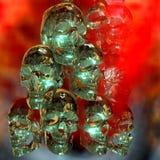 ejemplo 3D de cráneos espeluznantes Fotografía de archivo libre de regalías
