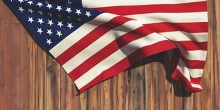 ejemplo 3d de la bandera Imagen de archivo